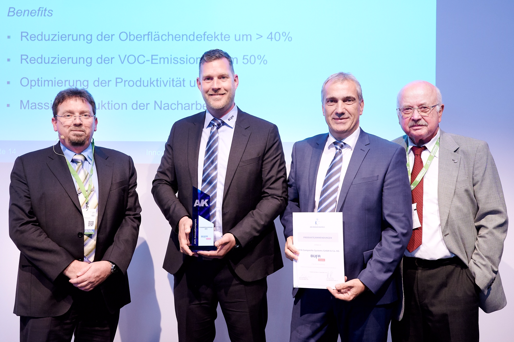 BÜFA Composite Systems erhält erneut AVK Innovationspreis